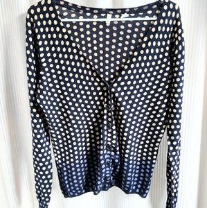 Anthro Polka Dot Ombre Cardigan by Moth